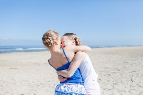 Gezinsfotografie op het strand van Scheveningen