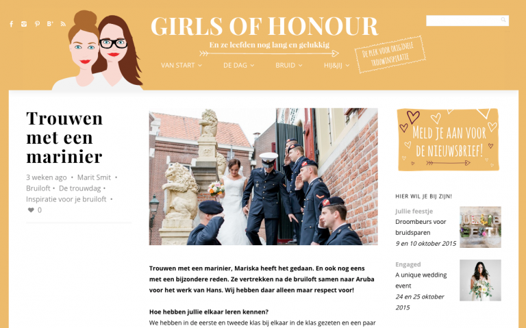Publicatie Girls of Honour